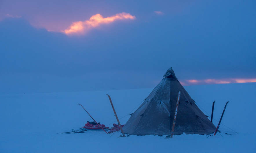 The tent at dawn