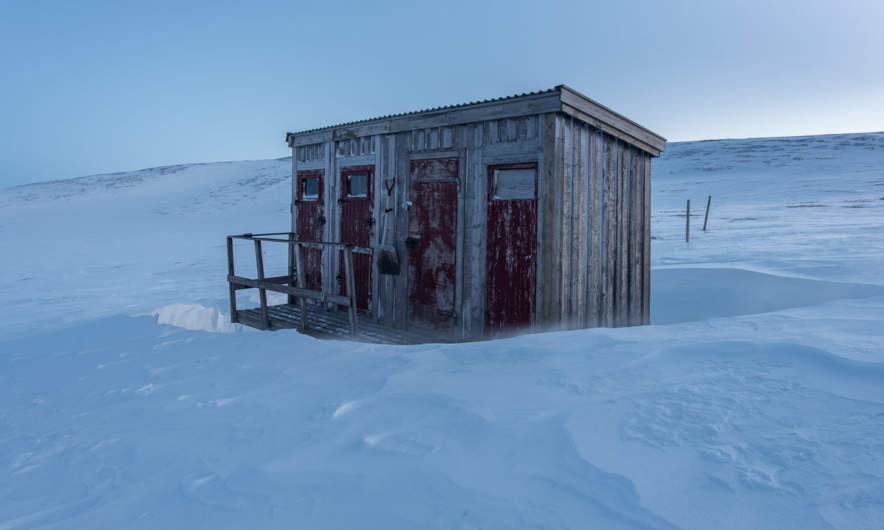 The utedass at Helags Fjällstation