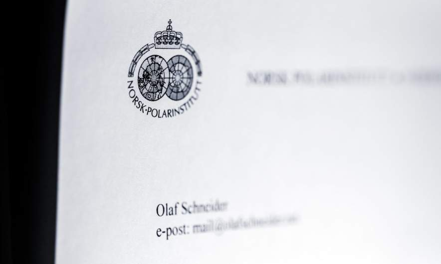 Letter from the Norwegian Polar Institute