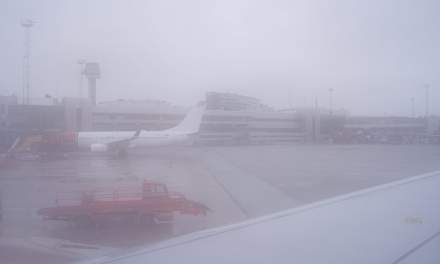 Fog at Arlanda Airport