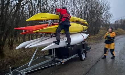 Unloading the trailer