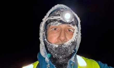 A frosty selfie