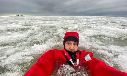 Silly selfie in the ice
