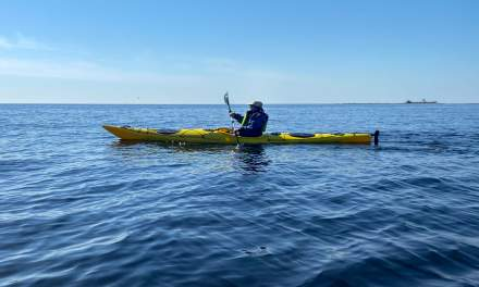 Annika in her new sea kayak