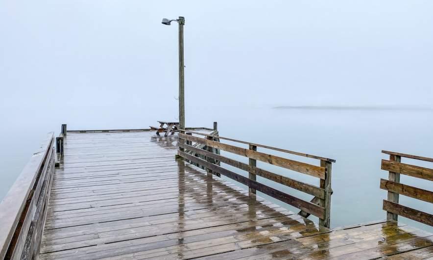 Fog on the sea