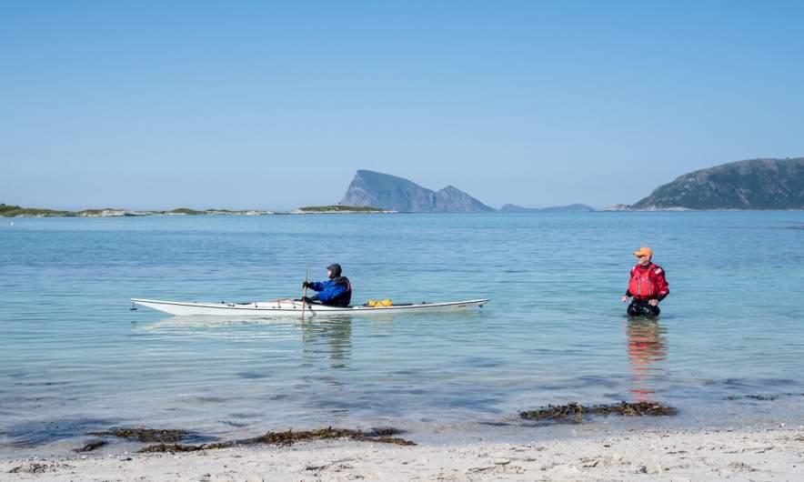 Watching the private kayak training