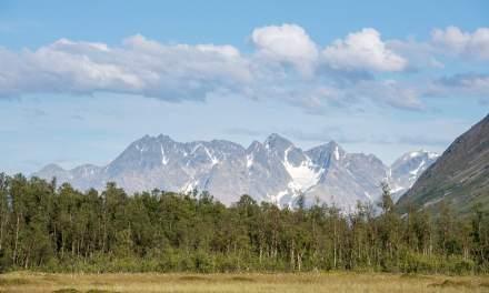 View on the Lyngen alps