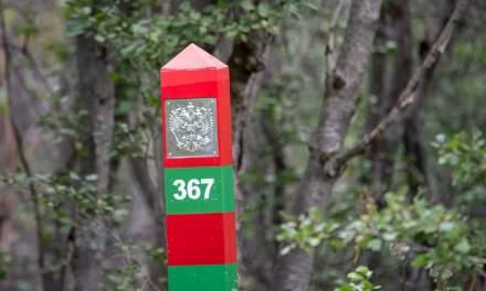 Russian boundary post #367