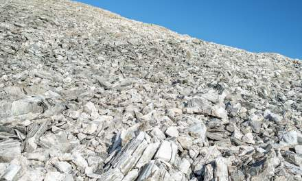 The mountain is a pile of rocks