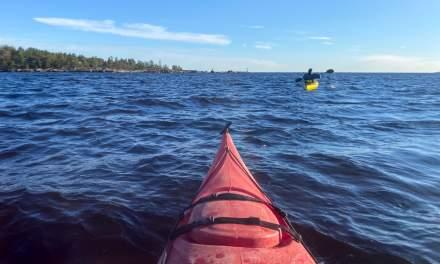 Kayaking round Bredskär