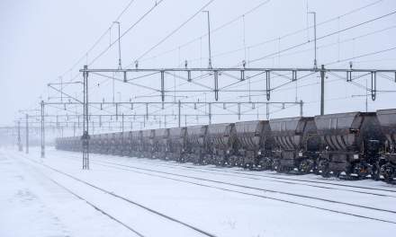 October snow at Kiruna station