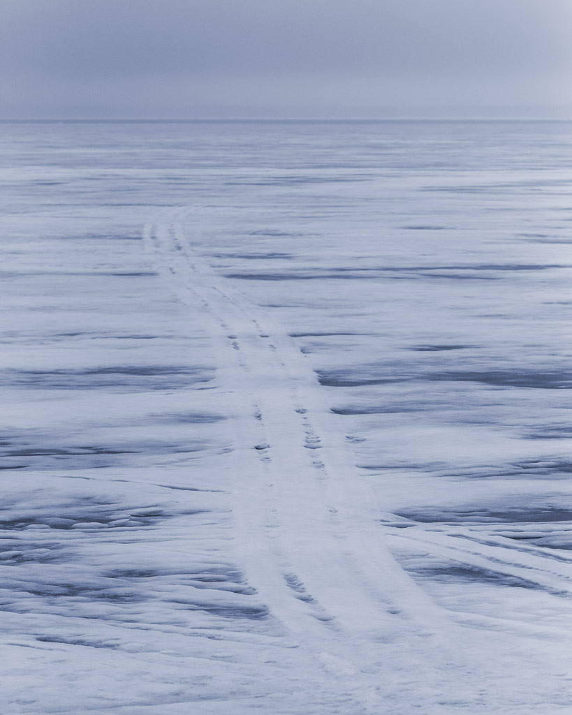 Memory of a snowmobile track