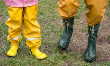 Dancing rubber boots