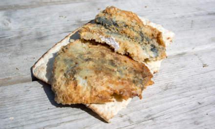 Fried herring, freshly caught in the Baltic Sea